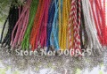 Free shipping Wholesale 3mm 17-19inch Adjustable assorted Color Faux Braided leather necklace cord 100pieces/lot(China (Mainland))