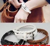 C Free shipping!! 84pcs/lot. Leather belt buckle bracelet, hand catenary style fashion