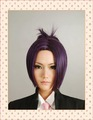 Hitman Reborn Chrome Dokuro Short Straight Cosplay Wig, Purple & Black- Free Shipping