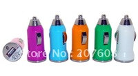 110pcs/lot Mini Bullet Colorful Car Charger Adapter for Ipod for Iphone 4G 3GS 3G 2G, Cell Phone Mp3 Mp4 Mp5