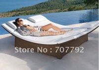 2012 Hot sale SG-12014C Elegant black rattan deck chair furniture