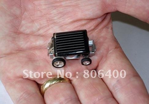 Mini Solar Car Kit Educational Solar toys Smallest Mini Solar Powered Robot Racing Car Toy(China (Mainland))