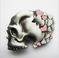 "Cowboy partner] belt buckle skull series ""Pink Skull"""