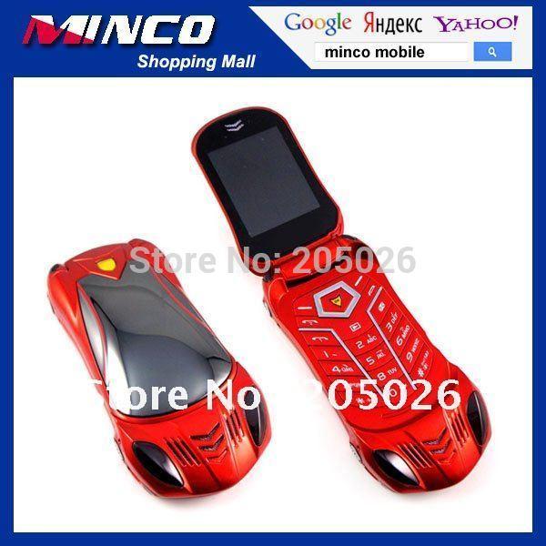 Free Sample Unlocked Dual SIM Car Shaped Mobile Phone F918 Flip Luxury Mobile Phone