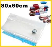 New 80x60cm Space Saver Storage Bag Vacuum Seal Compressed Bag  FREE SHIPPING!