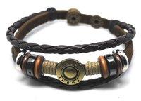 E2006-free shipping(10 pcs per lot)!wholesale & retail 2012 fashion handmade 100% real leather handmade bracelet