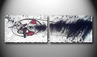 free shipping new black white contemporary abstract oil painting on canvas hand painted modern home office hotel wall art decor