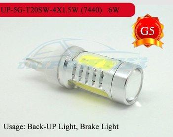 2012 High qulity LED T20S 7440 6 W car taillight LED brake light Back-up light Free China post mail