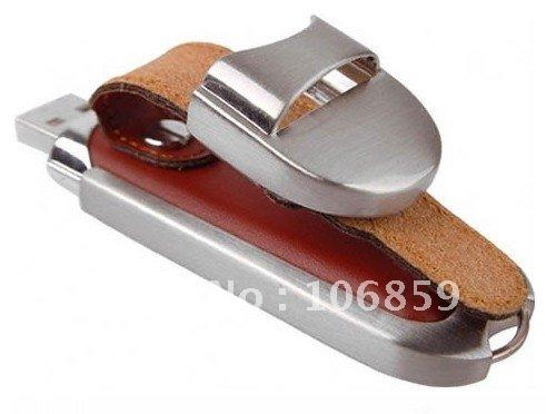 Free Shipping Leather Usb Stick 1GB,Hot Selling Usb Flash(China (Mainland))