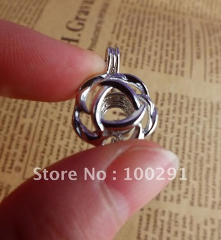 Free ship! 20pcs/lot mixed wish pearl necklace pendant cage necklace charm design beautiful pendant