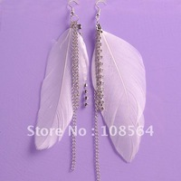 18 pairs in 1 lot Vintage Luxury Feather Dangle Peacock Earrings free shipping G401 Fashion jewelry