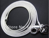 """24""""Free Shipping 5PCS 3MM 925 sterling Silver  snake chain necklace 24''  LQ-925-C02"""