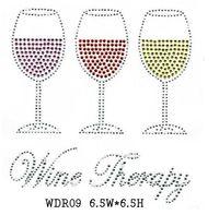 WDR09 Drink rhinestone transfer