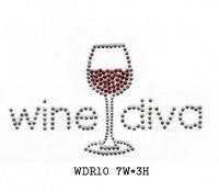 WDR10 Drink rhinestone transfer