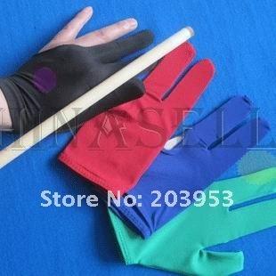 high elasticity snooker pool billiards cue gloves billiard three finger glove 8 balls 9balls gloves