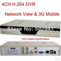 4 CH Security 3G Mobile H.264 DVR System Network FREESHIPPING CCTV COLOR