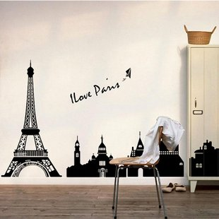 [Free shipping]NANA BEST Can remove creative ikea decorate sitting room the bedroom wall sticker Eiffel Tower