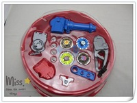 Freeshipping (EMS)beyblade set(4 beyblades +2 handles + 2 launchers + 4 spare metal tips + 1 arena)beyblade toy set 4D