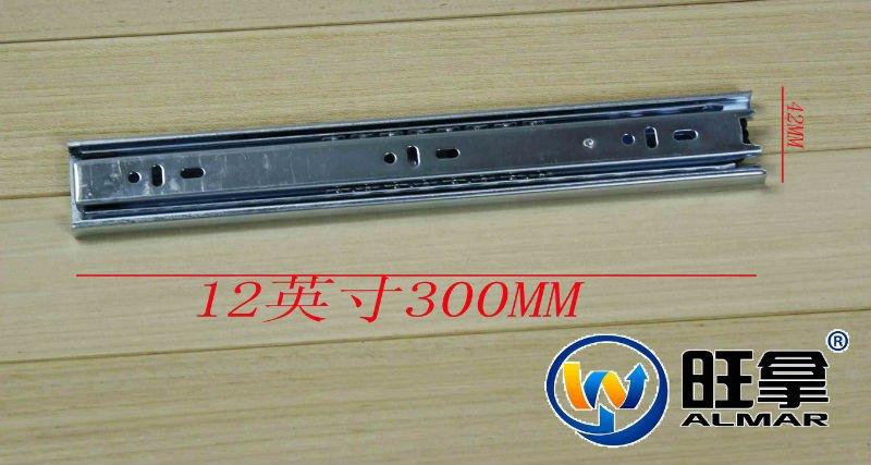"12""(30CM)42MM 3-FOLD BALL BEARING DRAWER SLIDE(China (Mainland))"