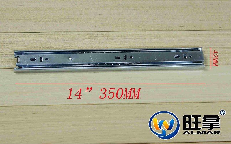 "14""(35CM)42MM 3-FOLD BALL BEARING DRAWER SLIDE(China (Mainland))"