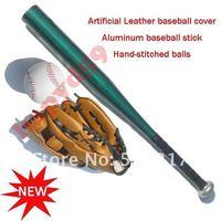 1pcs baseball gloves + 1pcs baseball ball + 1pcs  Aluminum alloy stick bat