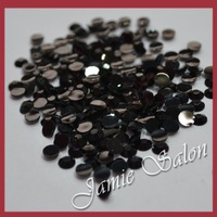 Wholesale Color Black 10000pcs Nail Art Decoration Resin Rhinestones 3mm ( ss12 )