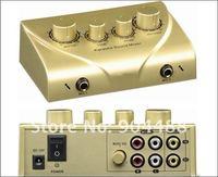 Free shipping .with 2 Microphone  ,HD-N2  Karaoke concrete  mixer  high quality Karaoke Echo Mixer KARAOKE SOUND MIXER