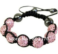 Women Fashion Jewelry Bracelet,10MM crystal Shamballa bracelet, Free Shipping!