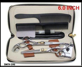 Hair Scissors Cutting Scissors and Thinning Scissors SMITH CHU 6.0 INCH barber scissors CZdiamond screw JP440C NEW
