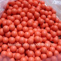 500pcs/bag 0.68 Orange rubber ball for paintball training reball