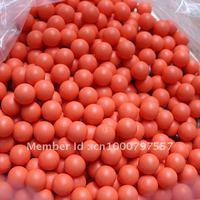 200pcs/bag 0.68 Orange rubber ball for paintball training reball