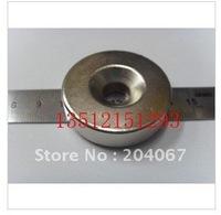 N35 NdFeB   powerfull magnet 40mm x 10mm x 10mm hole strong magnet lodestone permanent magnet  free shipping 4pcs/lot