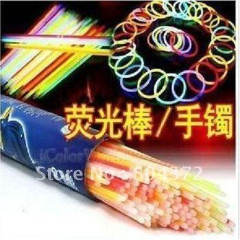 "100pcs 8"" Multi color hot glow stick led color flashing bracelet lighting flash sticks festival item"