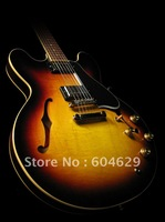 Musical instrument guitar/ 50th Anniversary 1960 Hole body ES-335 coat  Electric Guitar