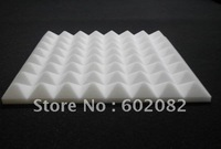 16pcs Hing Quality Acoustic Pyramid Foam Panels Sponge White color