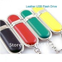 Noble Leather USB Flash pendrive 100% Real capacity 8gb 4gb  + Optional Customer Logo embossing+ Free shipping 50pcs/lot