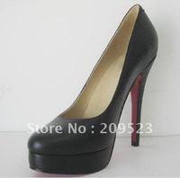 Hot selling Free shipping black goatskin Women\\\'s high heel pumps shoes
