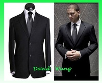 Free shipping 2012 new fashion Pure wool suits men's business casual suit blue color  dress coat wholesale price