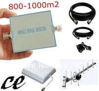 (800-1000m2) coverage GSM900Mhz mobile signal repeater/booster/amplifier + yagi antenna+panel antenna+15 meters cable+connector