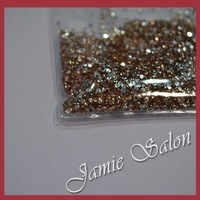 SS8 2.5mm Color Saffon 10000pcs Flat Back Taiwan Nail Rhinestones For Nail Art Decoration