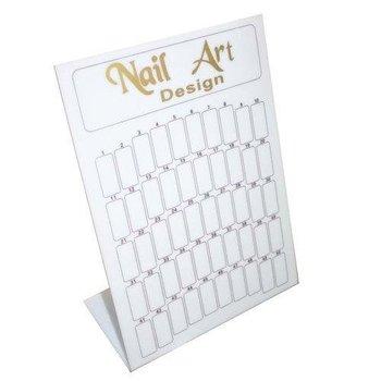 100 pcs/lot Original Nail Art / Finished Tips Display Board Stand Tool black- gold     #1252