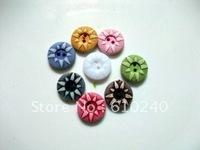 100PCS   Garment accessories / resin sunflowers buttons 1.35CM 031