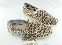 free shipping Hot women's classic  leopard grain canvas shoes ,6pcs/pairs