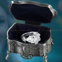 Lord of the Rings Nenya Galadriel of Water 925 Sterling Silver Ring and Jewelry Box one set Free shipping wholesale Dropshipping