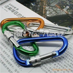 Free shipping high quility aluminum alloy buckle,Carabiner Clip,water bottles hook/ fast hang buckle(China (Mainland))