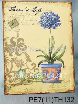 2012 supervalue blue  flower metal sign making machine/Free shipping/home decor/vintage metal sign