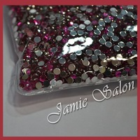 SS16 4mm Color Light Claret Red 10000pcs/lot Flat Back Taiwan Nail Rhinestones For Nail Art Decoration