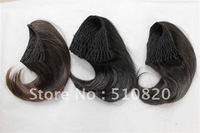 Wholesale Free Shipping Colorful New Fashion Women's Pony Tail Bride Hair Extension Scrunchie Bun Cover Hairpiece