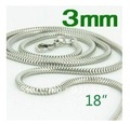 Wholesale lose money promotion 3mm*18&#39;&#39; inchs  10pcs  925 sterling silver snake chain necklace C02b