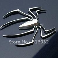U2 Free shipping, Fashion Metal Car sticker, 3D spider car sticker